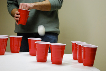 No Penalty when Ball is in Your Own Possession.. But results with an Elimination when it is Not. - Beer Pong Rules