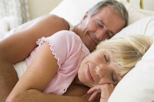 Mature couple still enjoying life