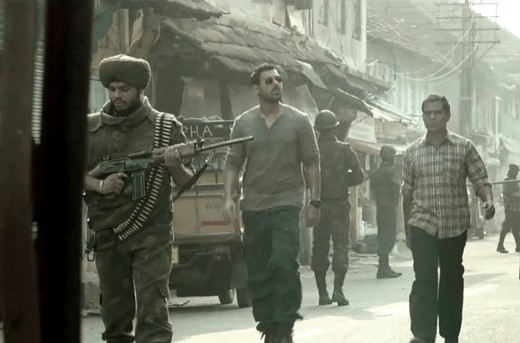 A scene from Hindi spy movie Madras Cafe