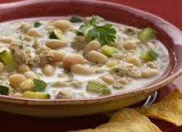 "This fragrant ""white"" chili is an unusual, delicious alternative to traditional tomato-based chilis but the flavor is awesome you and your family will love it."