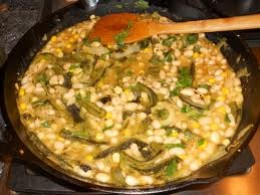 This white bean chili is packed with hearty beans and tender white corn.  The fresh lime juice, green chilis cilantro and cumin all contribute to the Southwestern-style flavor please try and enjoy