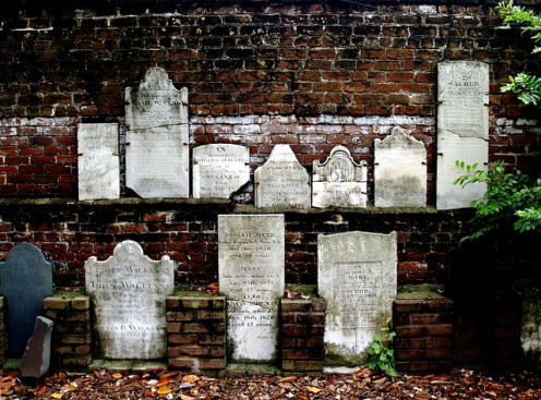 Historic Civil War Headstones in Savanah GA.