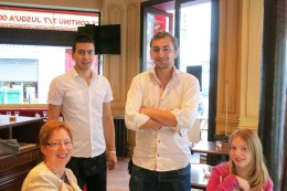 """Waiters at """"our"""" cafe"""