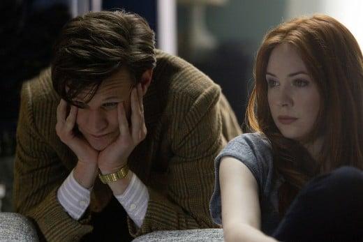 Matt Smith as the Eleventh Doctor and Karen Gillan as companion Amy Pond.