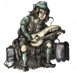 The lonely troubadour plays his music in search of love.