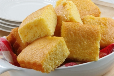 Buttered corn bread there is nothing better when ii hot right out of the oven and it is a great choice for any meal.