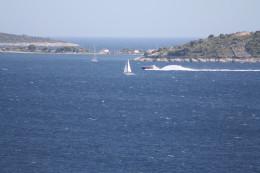Adriatic sea and island view from the terrace, Croatia