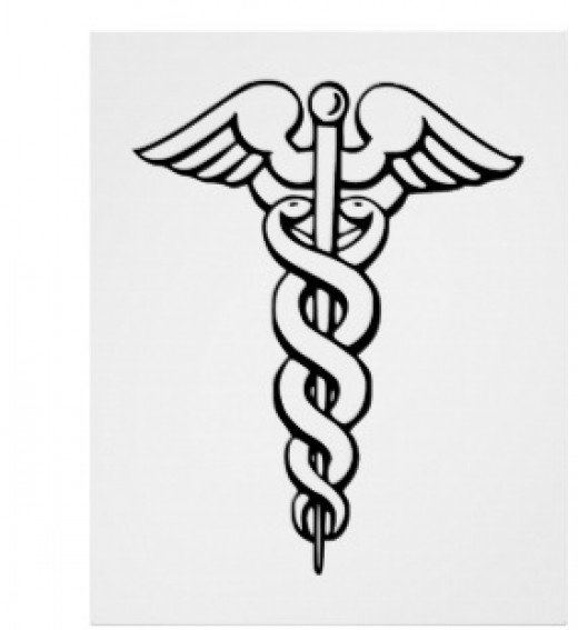 This is a symbol you will see on the door of a doctor's office, or a chiropractors.