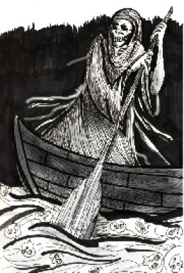 Hades crossing the River Styx