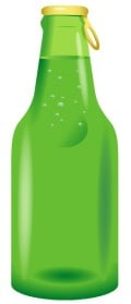 Free food clip art: Green beer bottle