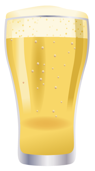 Food clip art: Glass of light beer