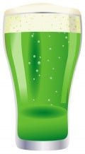 Green beer clip art for St. Patrick's Day