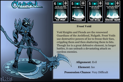 """Oversoul"" Frost Void soul card"