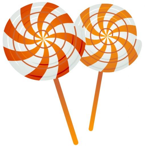 Candy pinwheels clip art