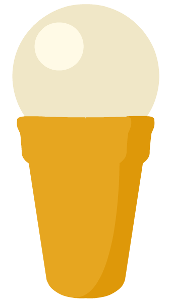 Free vanilla ice cream cone clip art
