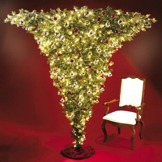 Inverted Christmas Tree On A Floor Stand