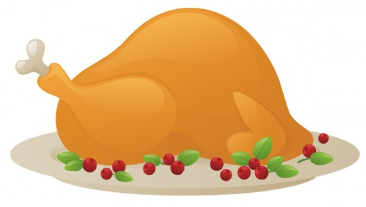 Turkey and cranberries free food clip art