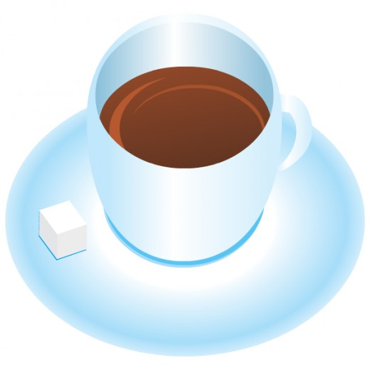Cup of coffee with sugar cubes free clip art