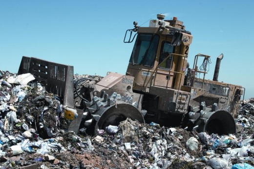 Glass need not go to landfill sites like this as it is 100% recyclable.
