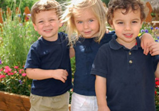 Students at Lake Hills Montessori School in Austin, Texas