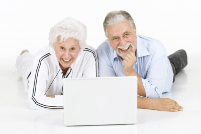 Seniors are well connected with their computers.