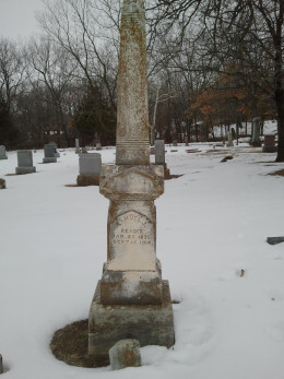 Samuel J. Readers burial place at Rochester Cemetery in Topeka, KS.