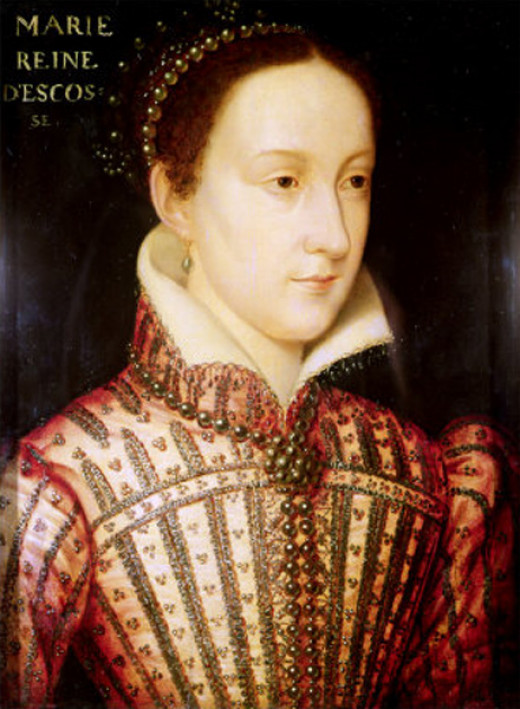 Mary, Queen of Scots aged about 18 years.