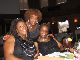 My twin sister Paulette and her daughter Chante joined in the celebration.