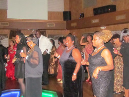 The evening of romance  and celebration was closed out with everyone on the dance floor for this special event.