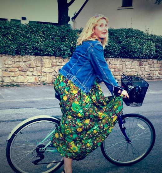 Riding along on a pushbike honey
