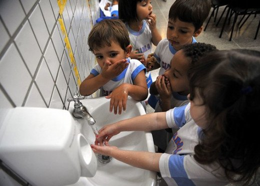 Kids Washing Their Hands