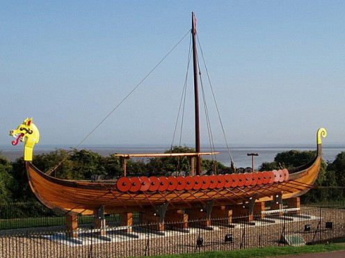 Replica Of A Viking Longboat