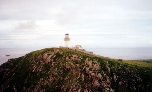 The Flannan Isles lighthouse where three men disappeared mysteriously.
