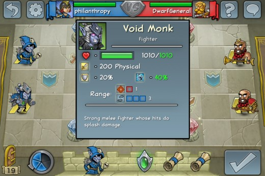 A void monk can reach 1010 hp with shield, helm and potion - not a spectacularly high hp at first glance, but with his superior AoE attacks and Life Leech is a powerful contender in the Hero Academy world.