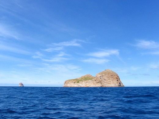 Curtis Cone Island in Bass Strait, Australia where a young pilot went missing under bizarre circumstances.