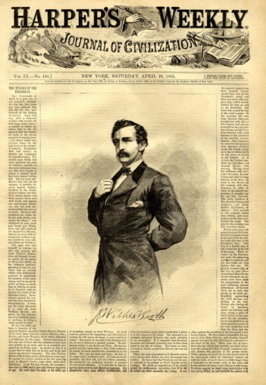 John Wilkes Booth In Harper's Gazette