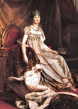 Joséphine de Beauharnais, first Empress of France, great enthusiast of roses and one of their main promoters in Europe in the nineteen century.