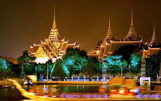 The magical view of Bangkok Thailand Grand Palace