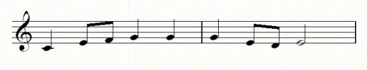A melody based on a scale but omitting notes for variety