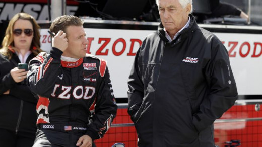 The Captain, Roger Penske, put Allmendinger in an IRL ride after releasing him from the Sprint Cup #22 team