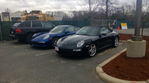 Picking my car up after the service I found her in good company.