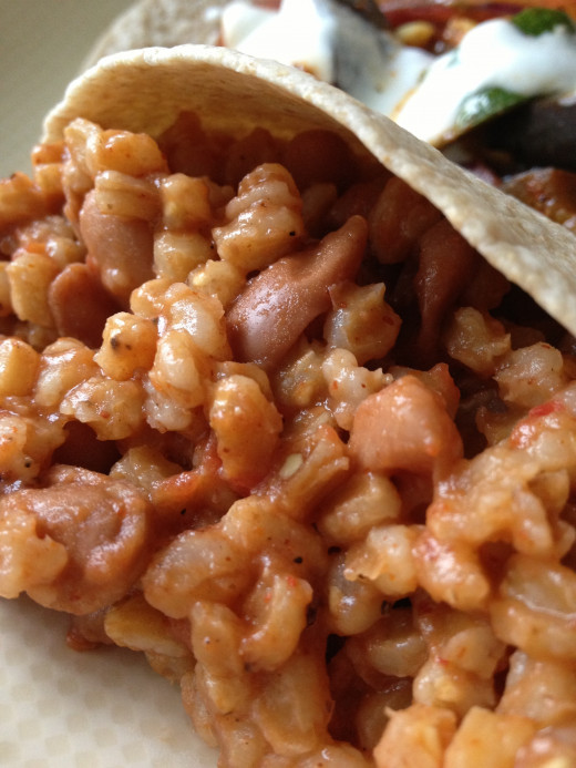 Farro with beans