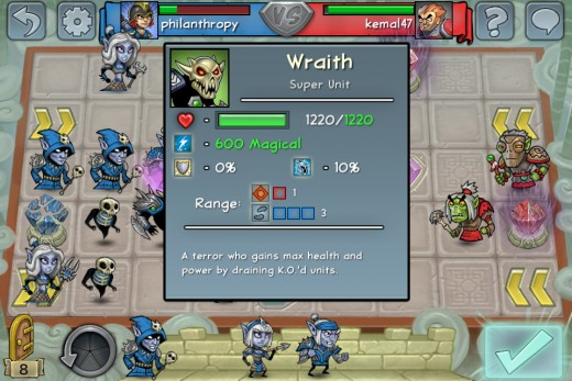 With Runemetal, the Wraith has an attack of 600 damage, which coupled with Lifeleech makes it a formidable foe. 1200HP without a helm is ridiculously hard to defeat, too!