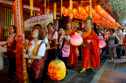 Temple celebrations during Mid-Autumn Festival