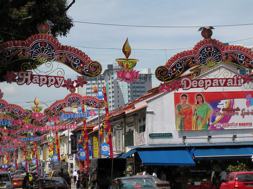 Deepavali decorations in Little India, Singapore