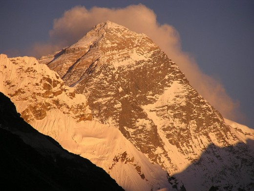 Mount Everest is called Sagarmatha in Nepal and Chomolungma in Tibet