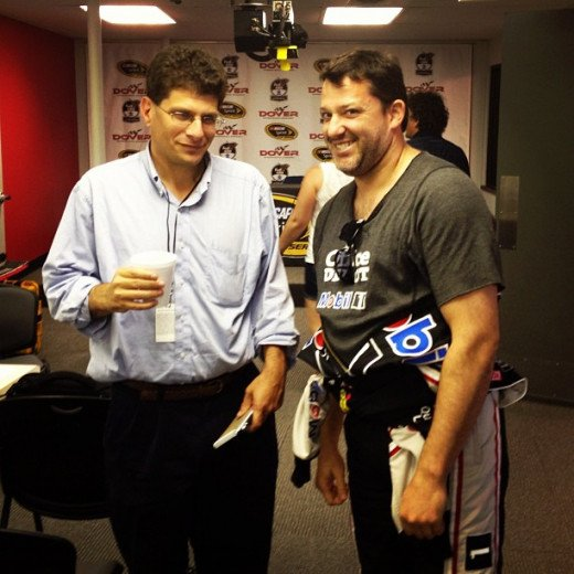 Bob Pockrass (left) creates great content for Sporting News