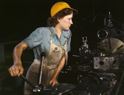 After World War II, women were finally given the choice to do many jobs that men previously did (that now both men and women dislike doing). Yay?