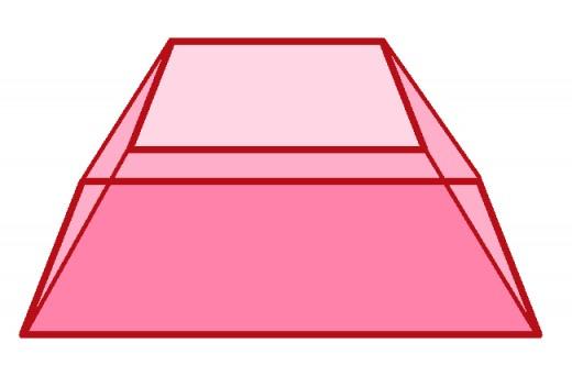 A square pyramidal frustum