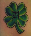 Four Leaf Clover Tattoo Design Ideas